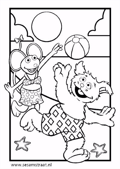 Kleurplaat Tommie & Ieniemienie Zappelin