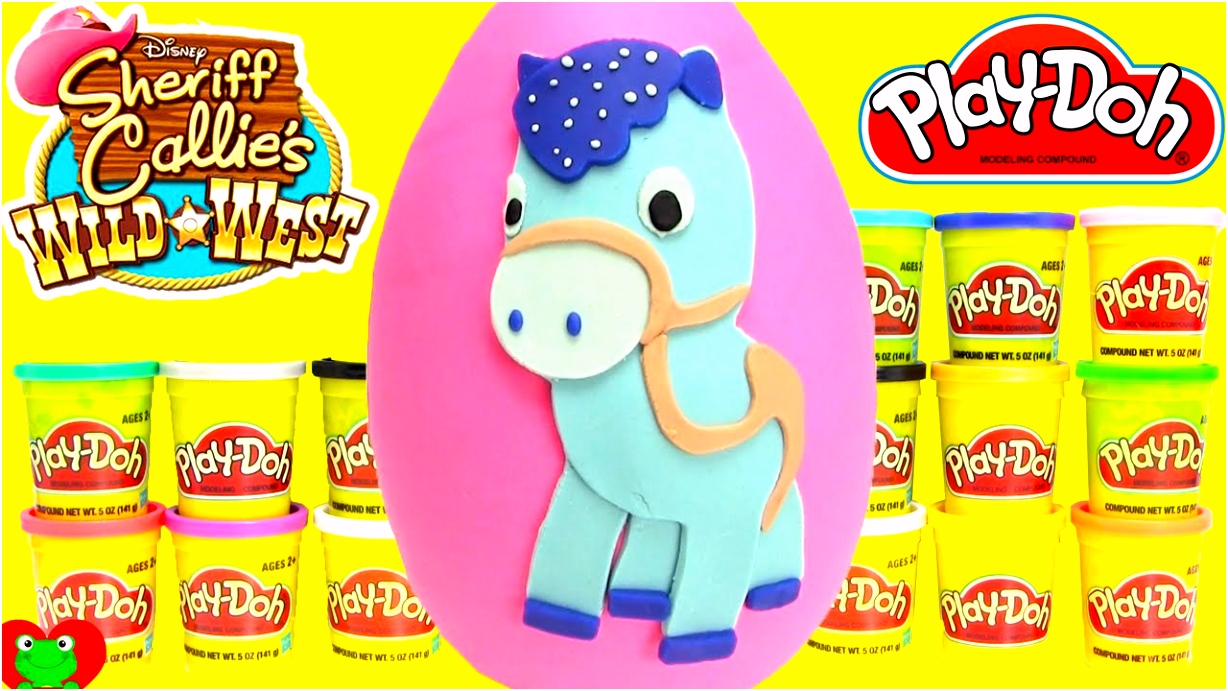 Sheriff Callie Play Doh Surprise Sparky Egg Learning Colors with