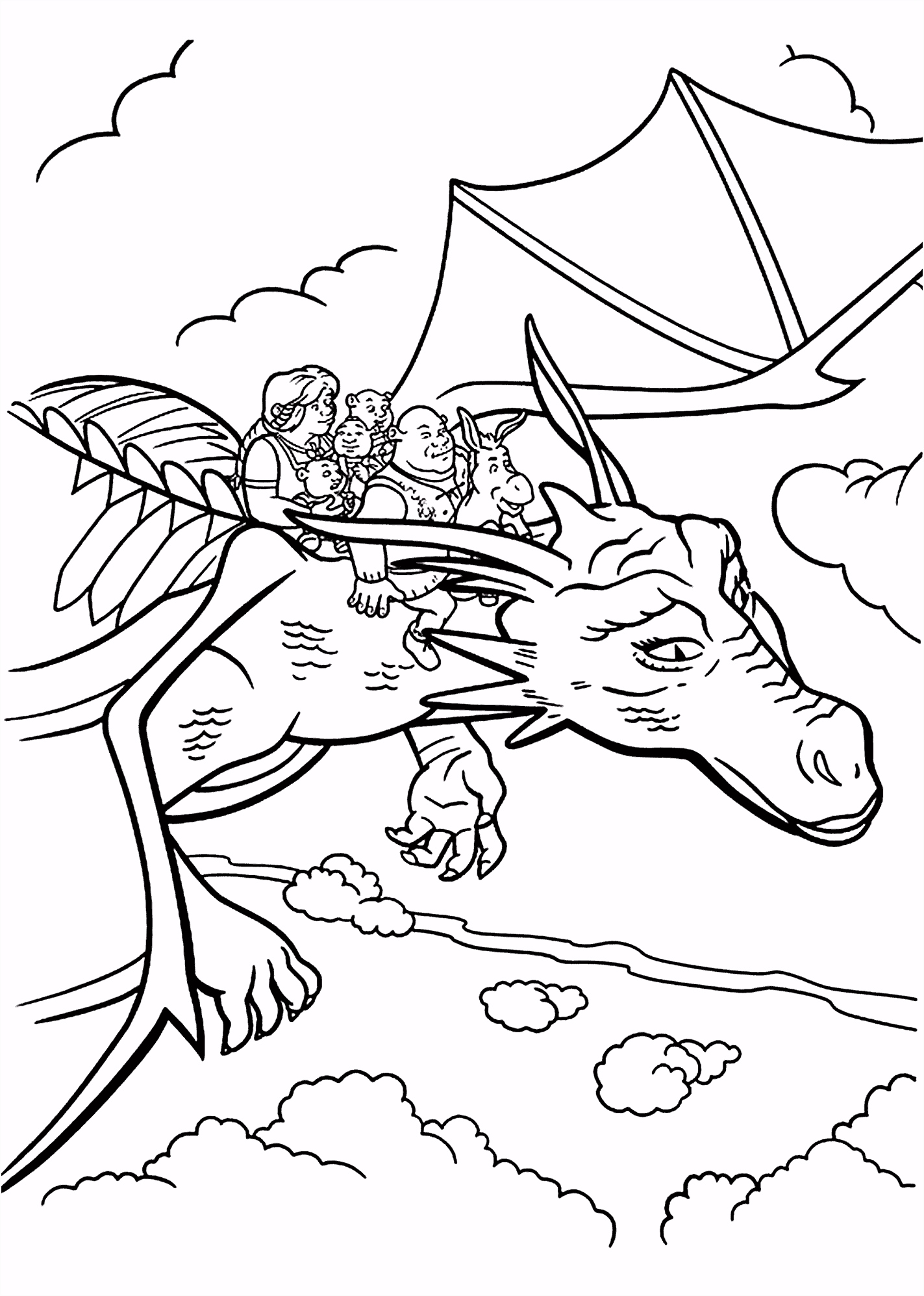 All from Shrek coloring pages for kids printable free