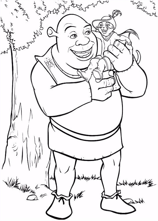 Shrek Tegninger til Farvel¦gning Printbare Farvel¦gning for b¸rn