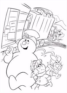 Frosty the Snowman Kleurplaten 14 Inkleur