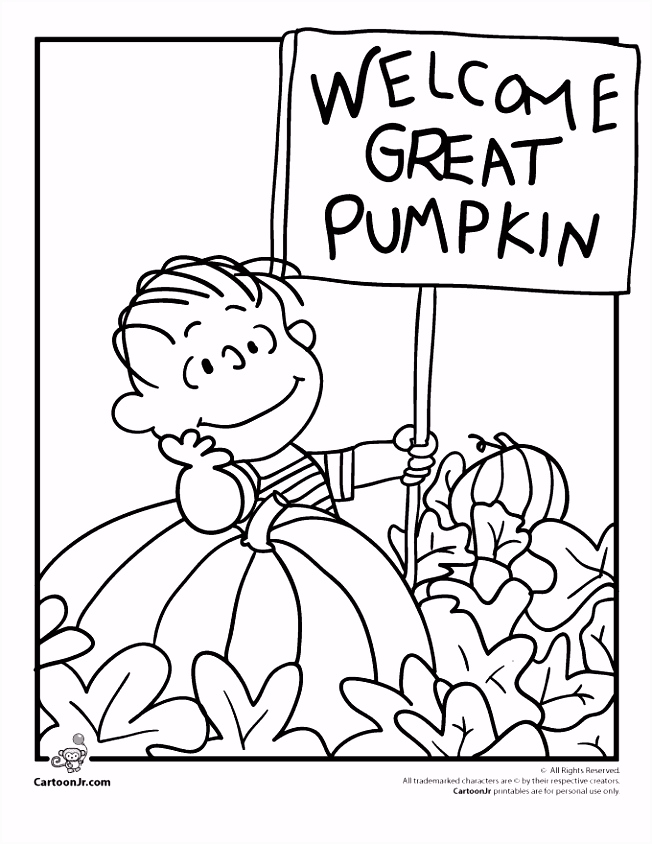 It s the Great Pumpkin Charlie Brown Coloring Pages