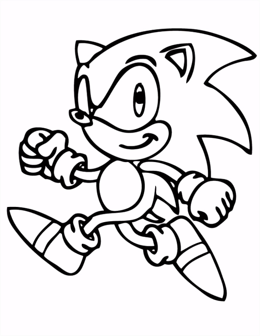 Printable Sonic The Hedgehog Coloring Pages for Kids