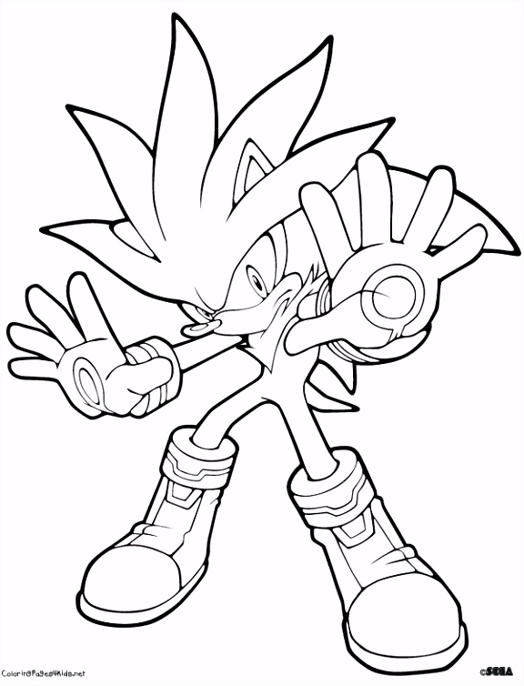 silver the hedgehog coloring to print Bing