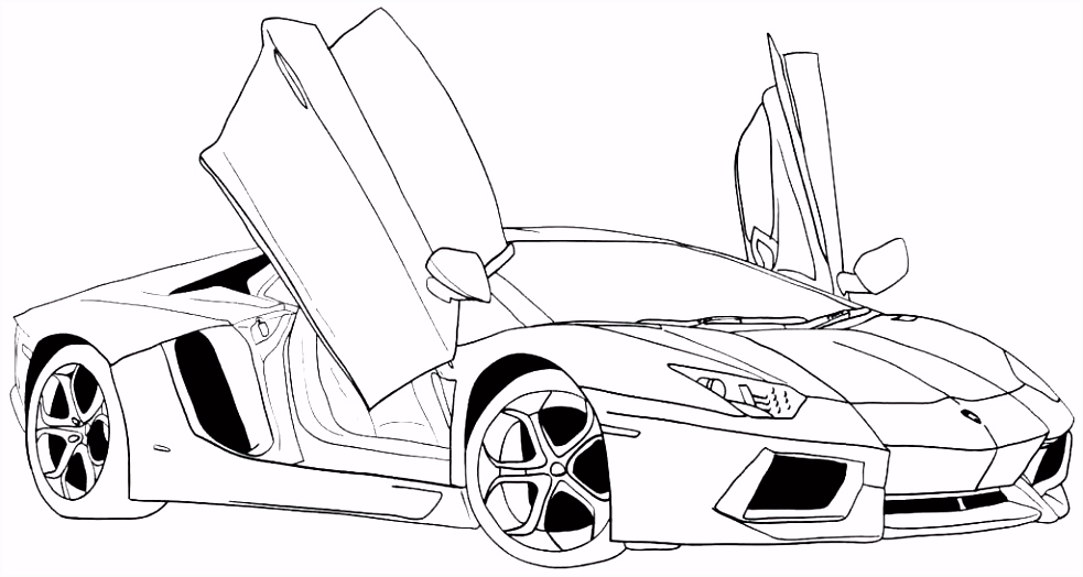Super Cars Coloring Pages Unique Fast and Furious Drawing at