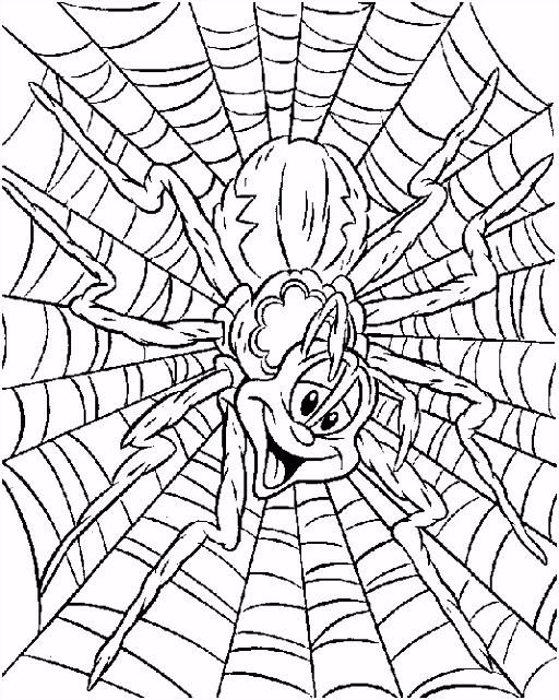 Gratis Spinnen Kleurplaten voor Kinderen 9
