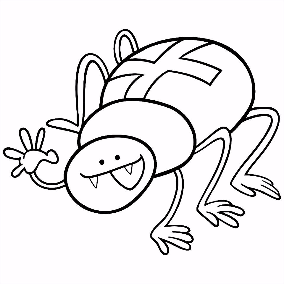 Leuk voor kids – cartoon kruisspin