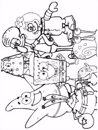 SpongeBob kleurplaten TopKleurplaat