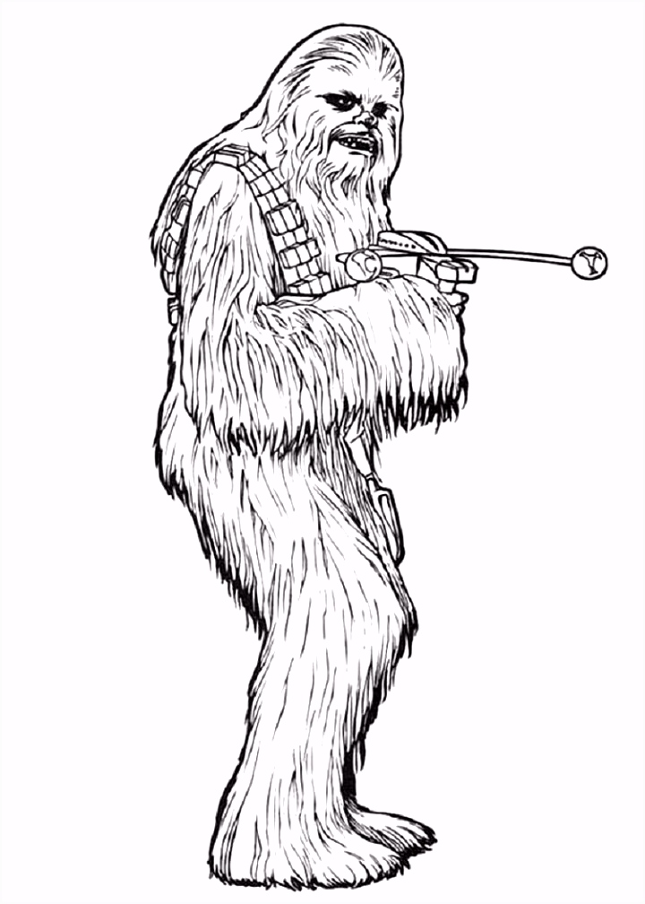 star wars coloring pages chewbacca