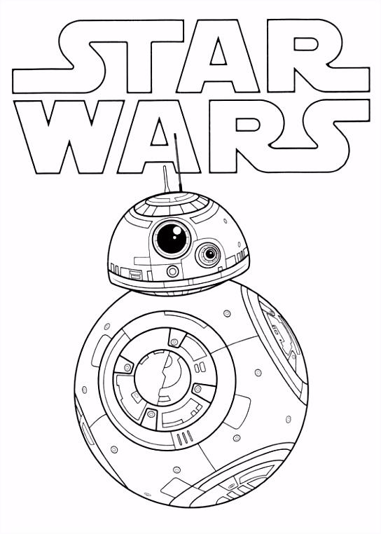 Kleurplaat Star Wars The Force twaakt 3