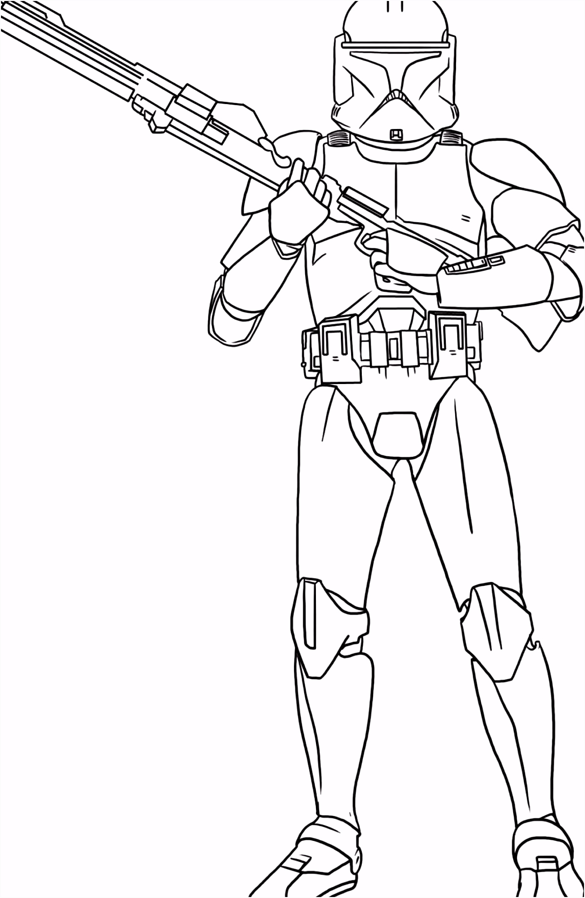 Star Wars Clone Trooper Kleurplaten