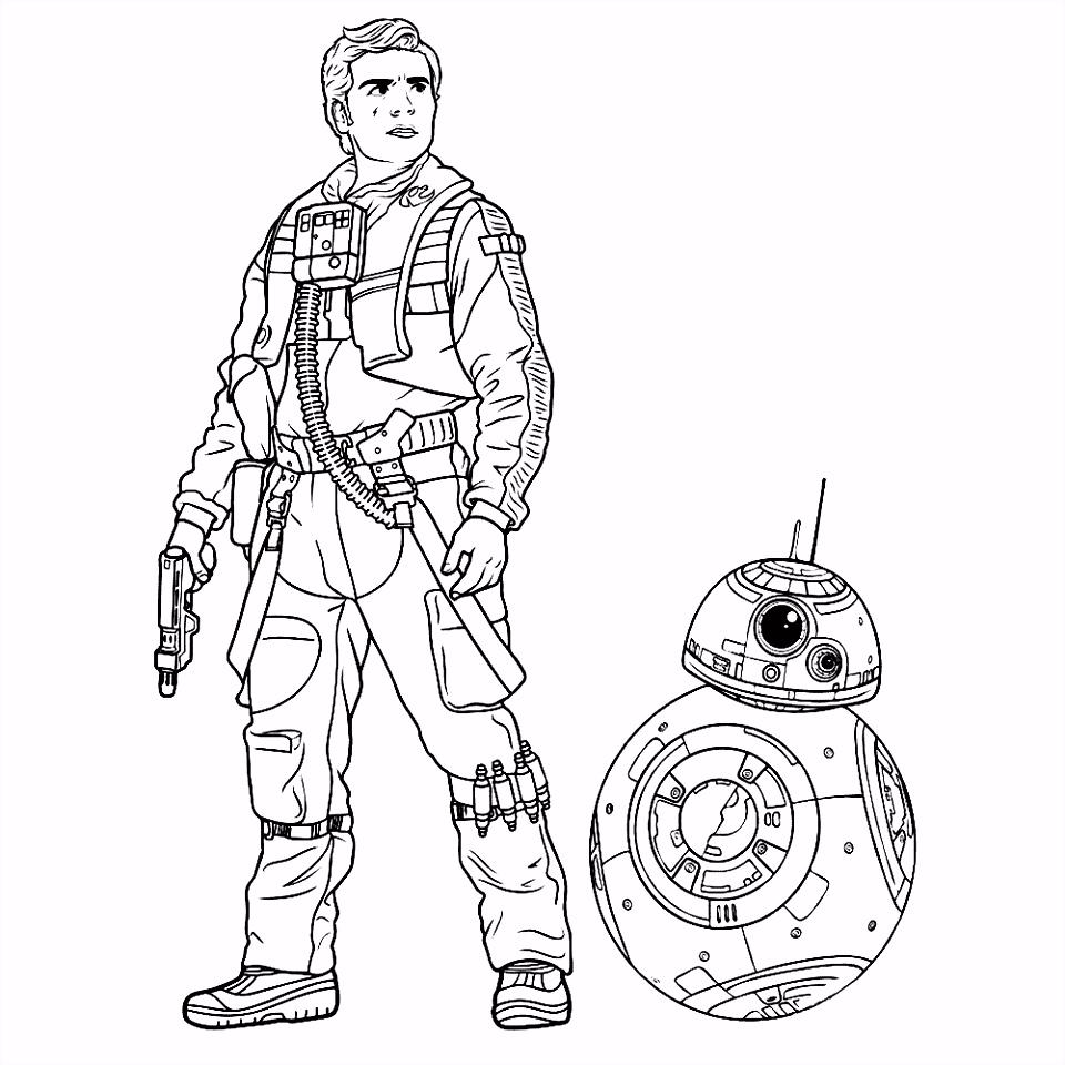 Star Wars the Force awakens kleurplaten Kleurplatenpagina