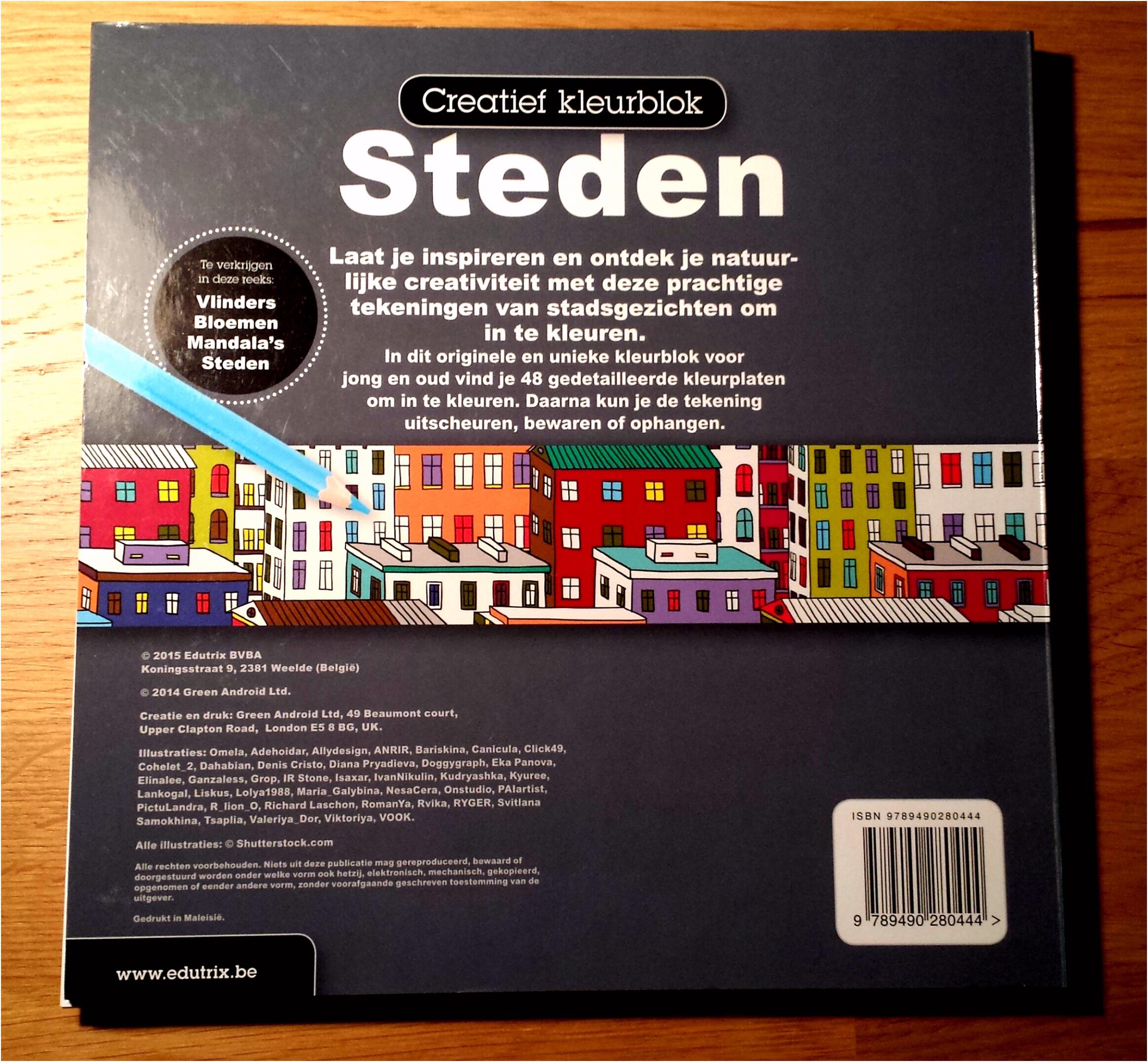 Creatief kleurblok Steden Volwassenen kleuren ook