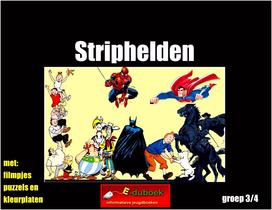 Striphelden met filmpjes puzzels en kleurplaten groep 3 4 PDF