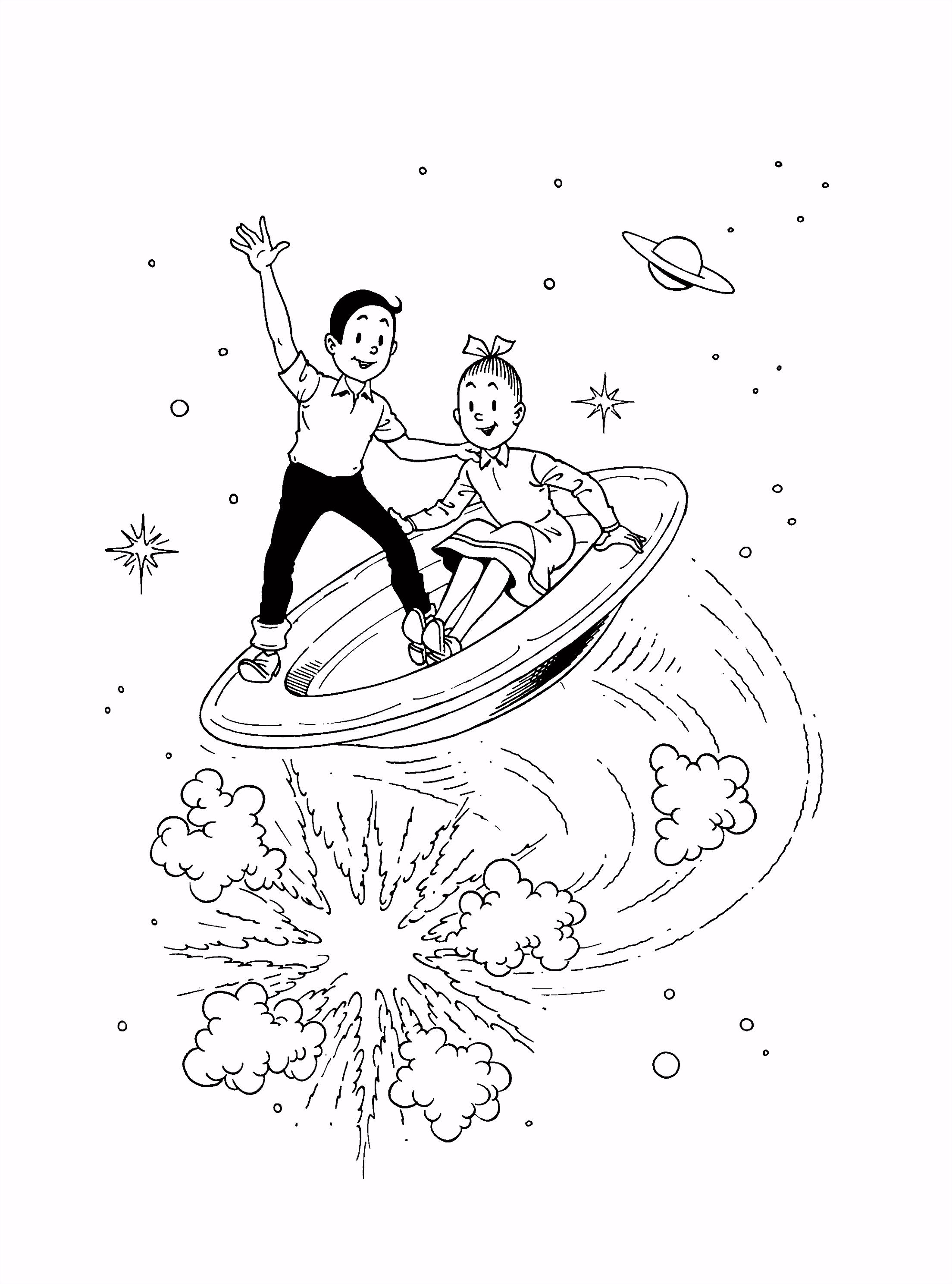 Suske en Wiske op een vliegende schotel stripfiguren