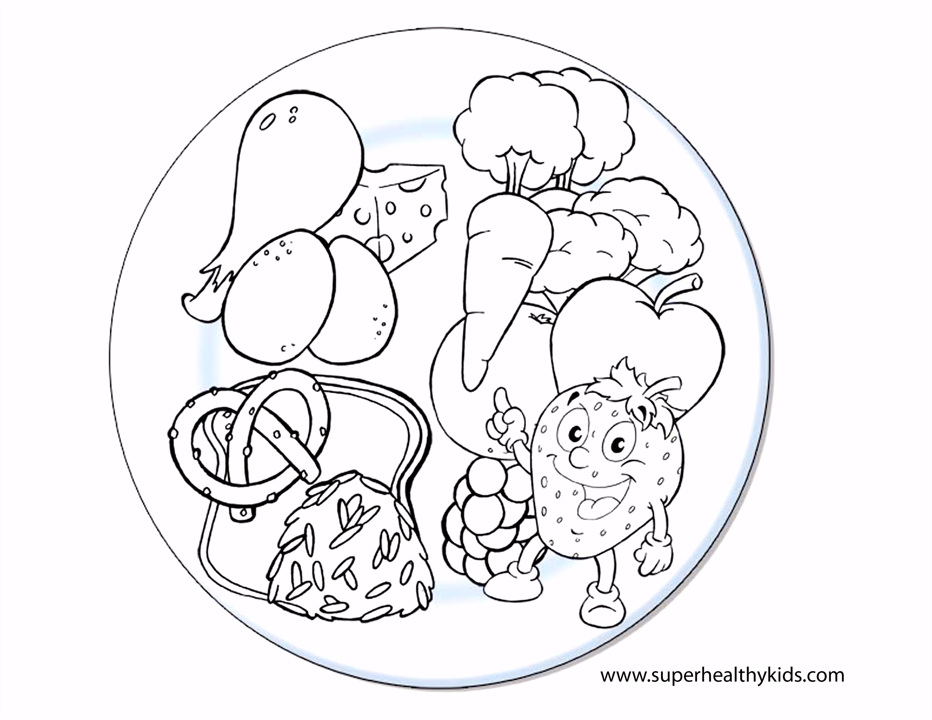 健康 Coloring Pages
