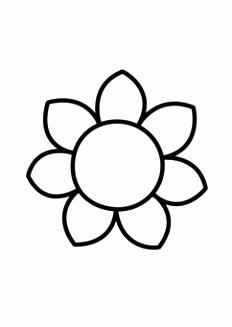 Kleurplaat bloem Tekenen en kleuren