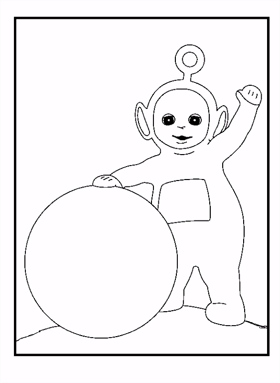 Teletubbies Po And Ball coloring picture for kids