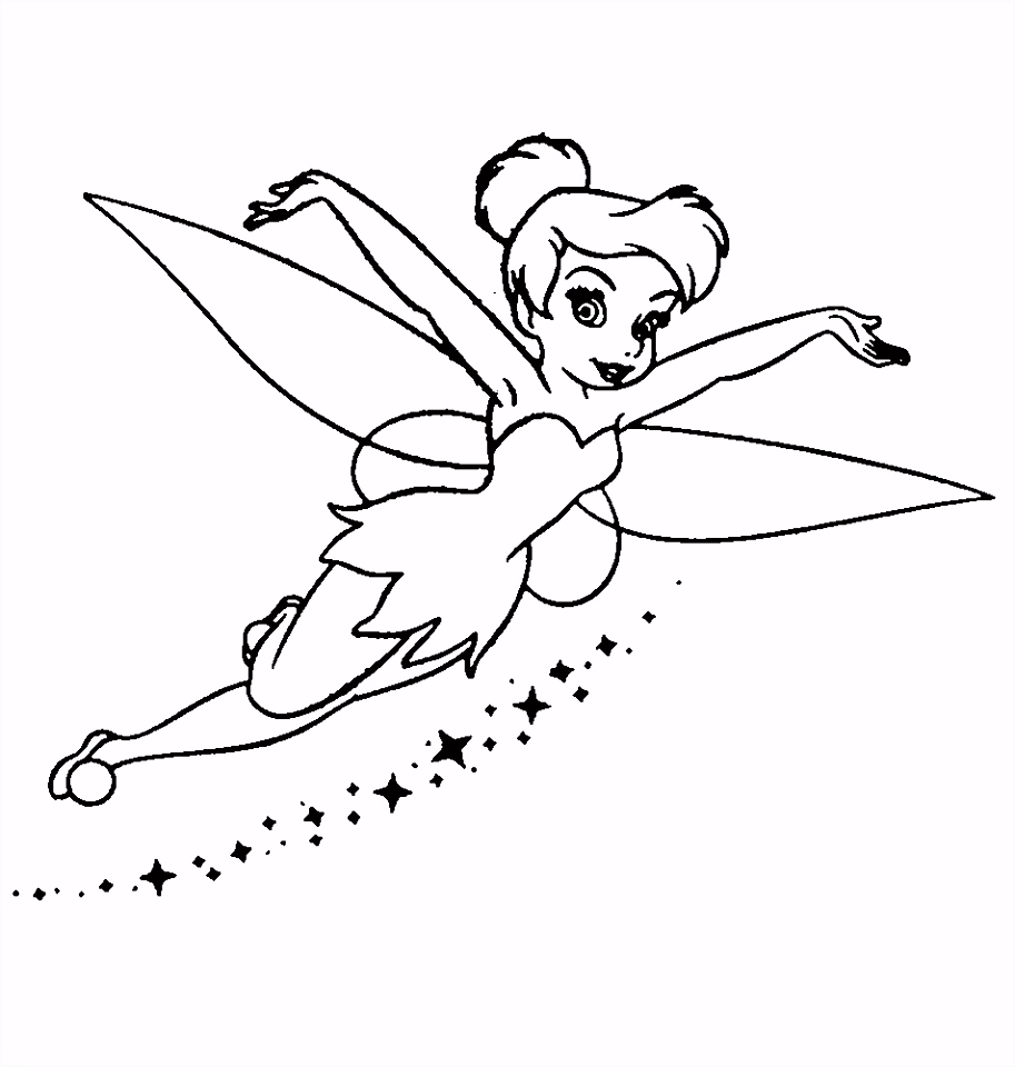 Tinkerbell Coloring Pages Pinterest