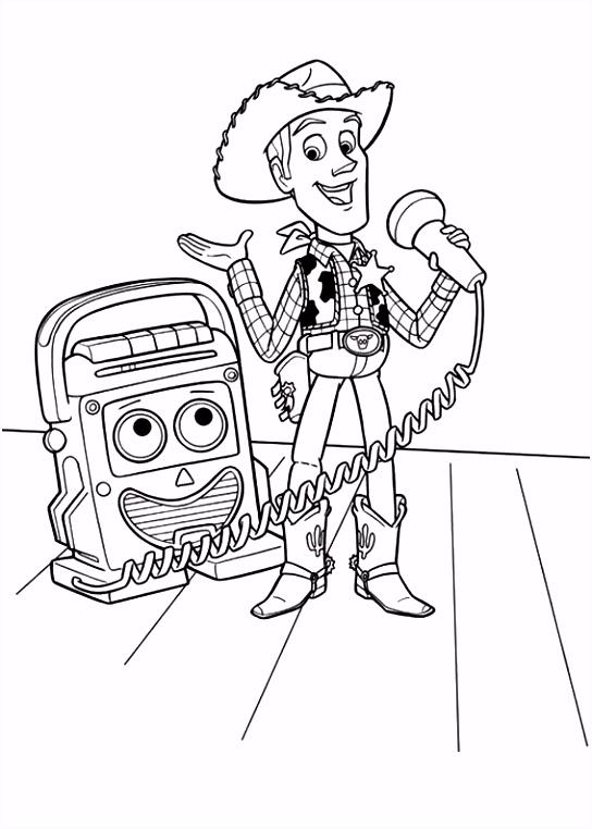 kleurplaten en zo Kleurplaat van Toy Story 3