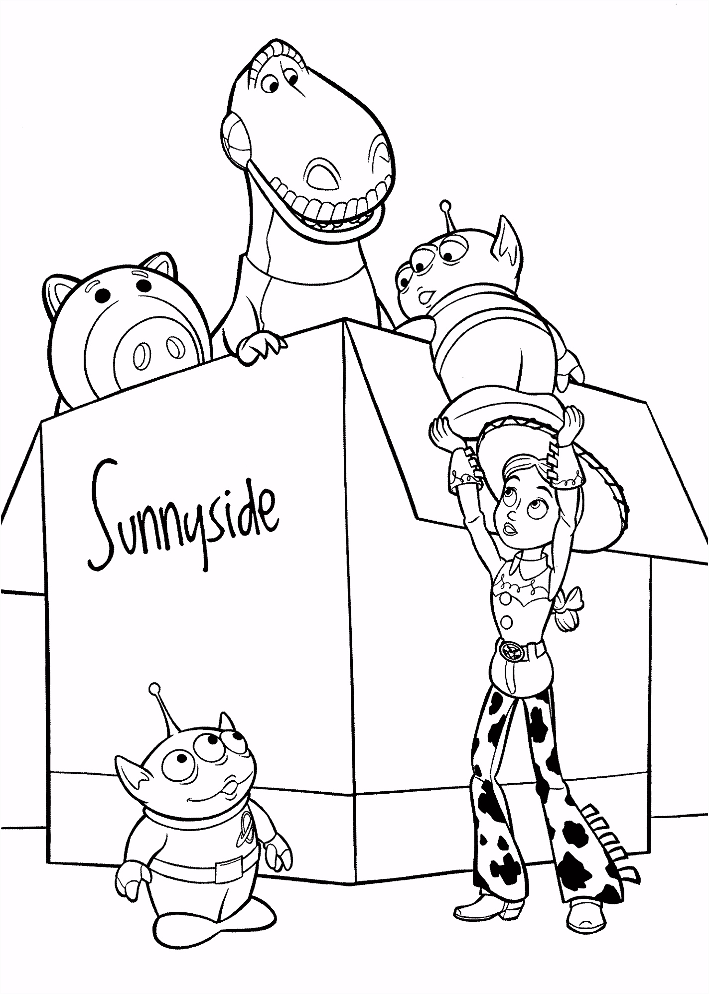 Toy Story Christmas Coloring Pages Free Coloring Library