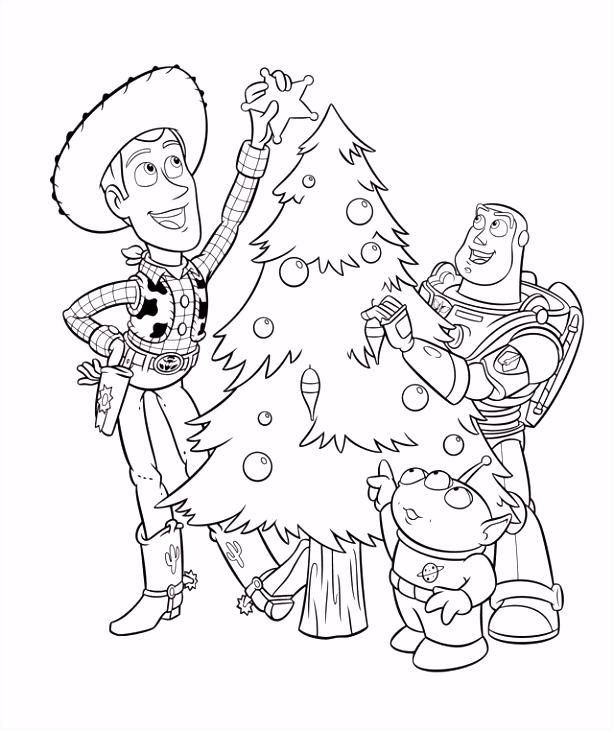 Toy Story Christmas Kleurplaten Toy Story 3