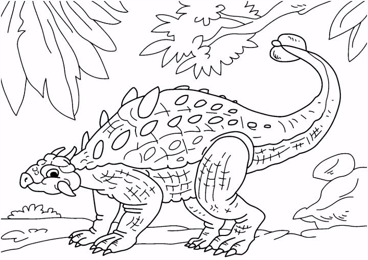 Coloring page dinosaur ankylosaurus room ideas