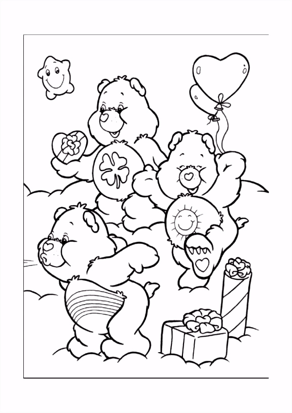 De Troetelbeertjes Kleurplaten voor kinderen Kleurplaat en