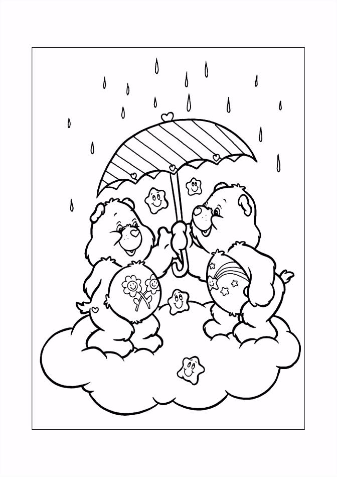 Troetelbeertjes in de regen3 Troetelbeertjes Kleurplaten
