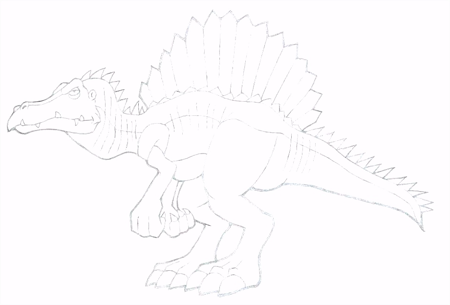 Spinosaurus Coloring Page Pages Free T Rex And Printable
