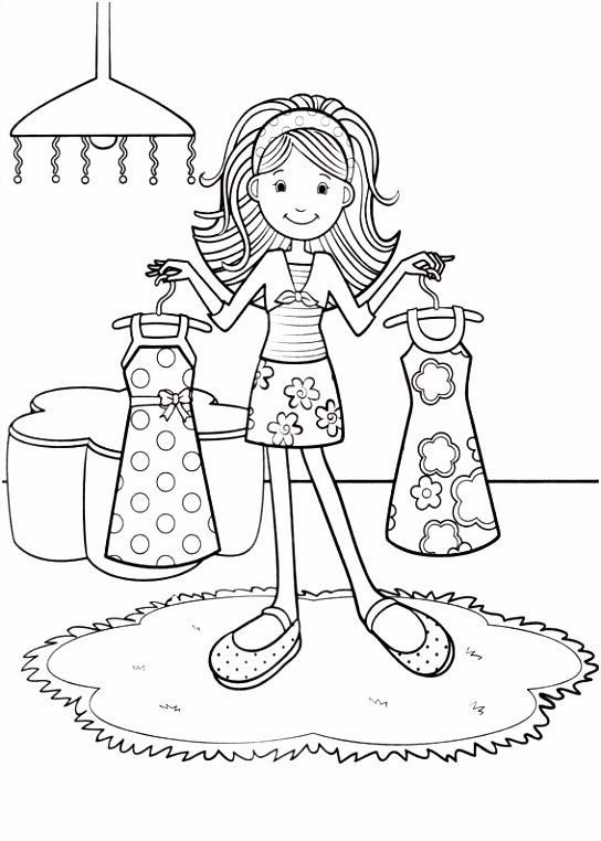 22 Beautiful Girls Coloring Pages