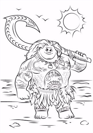 Desenhos para colorir Moana Um Mar de Aventuras