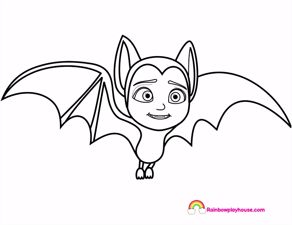 Printable Vampirina Bat Coloring Page