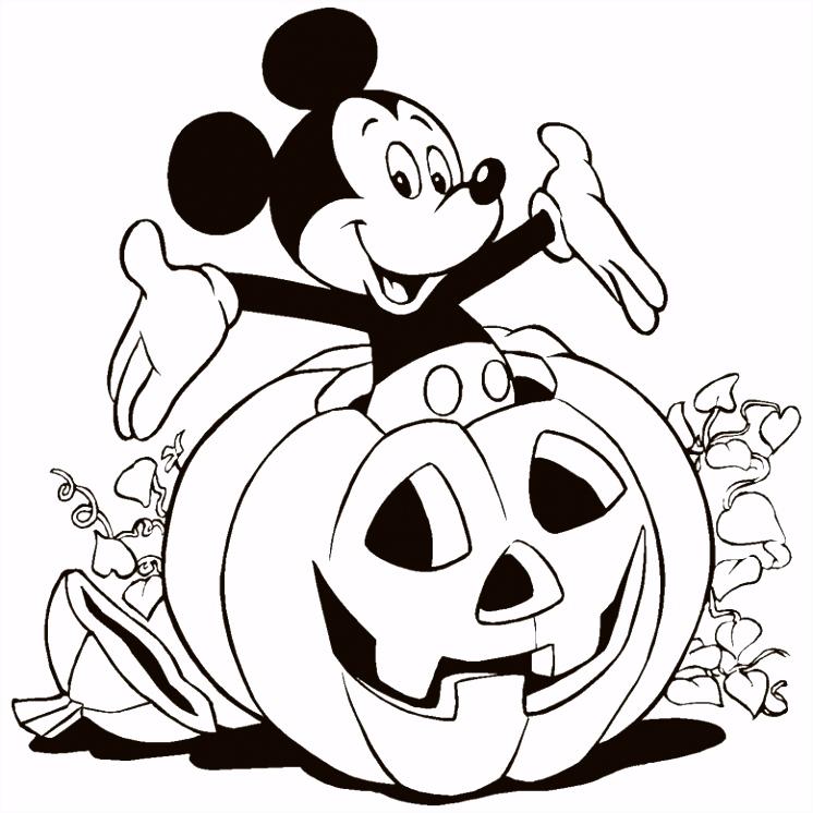 Kleurplaat Disney halloween 8061