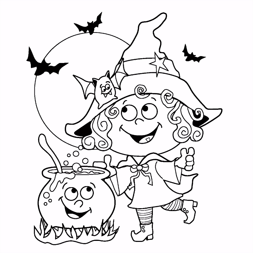 Leuk voor kids – Een vrolijk heksje brouwt een drankje