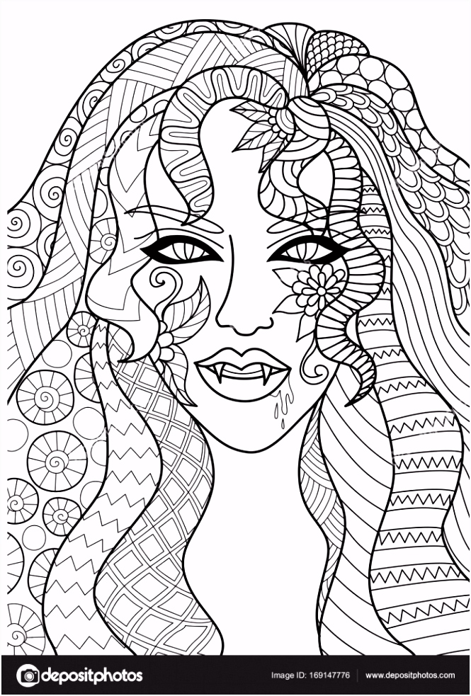Lijn kunst design van heks hoofd voor Halloween card