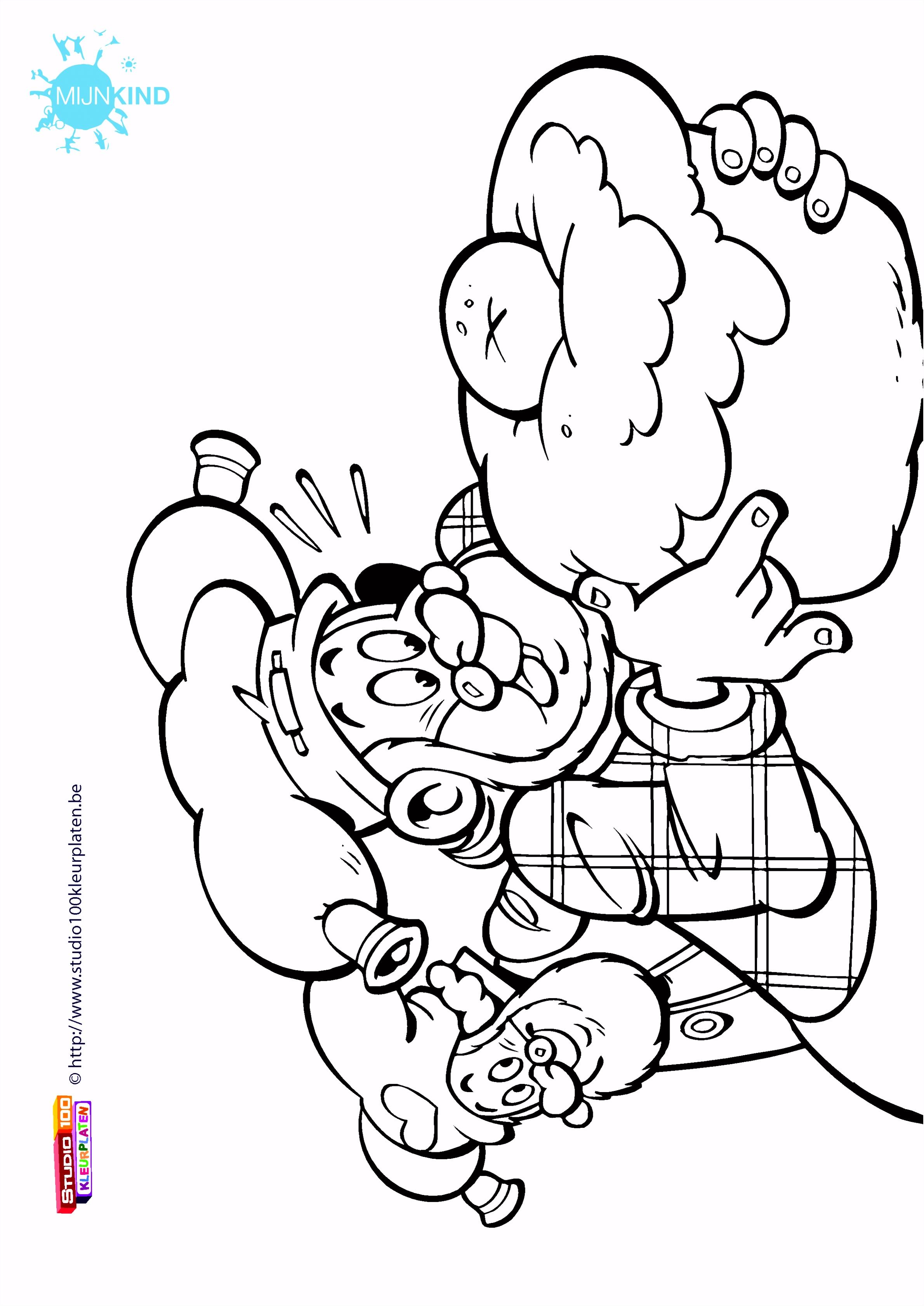 Print de gratis kleurplaat van Kabouter Plop kleurplaat nummer 378