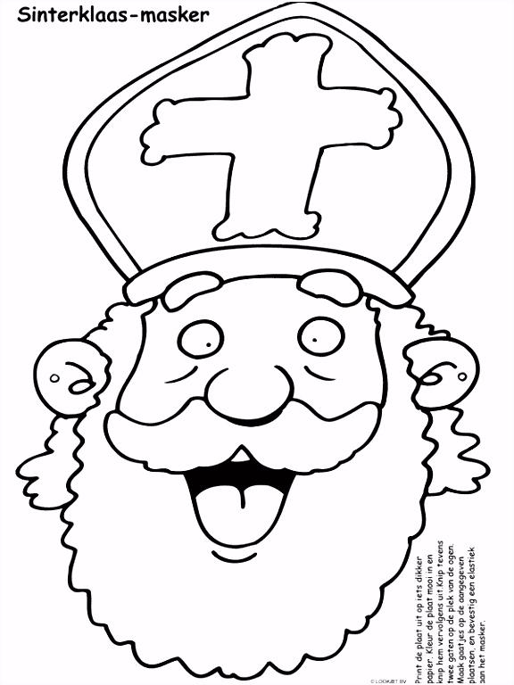 Kleurplaten Maskers Sinterklaas ARCHIDEV