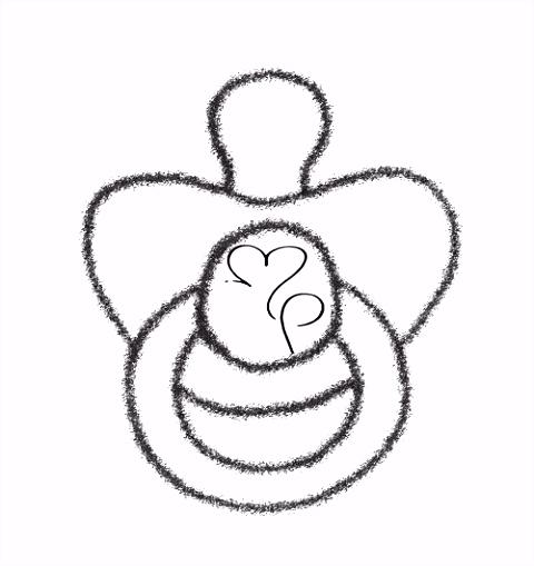 Dibujos de chupones para baby shower Manualidades con fieltro