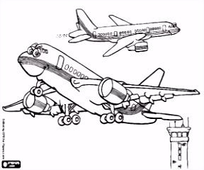Kleurplaten Vliegtuig kleurplaat