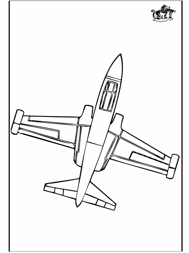 Kleurplaat Vliegtuigen ARCHIDEV