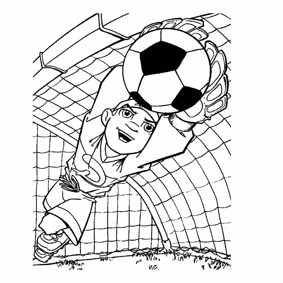 Leuk voor kids – De keeper pakt de bal