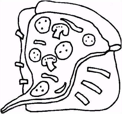 1001 KLEURPLATEN Eten en Drinken Eten Kleurplaat Pizza