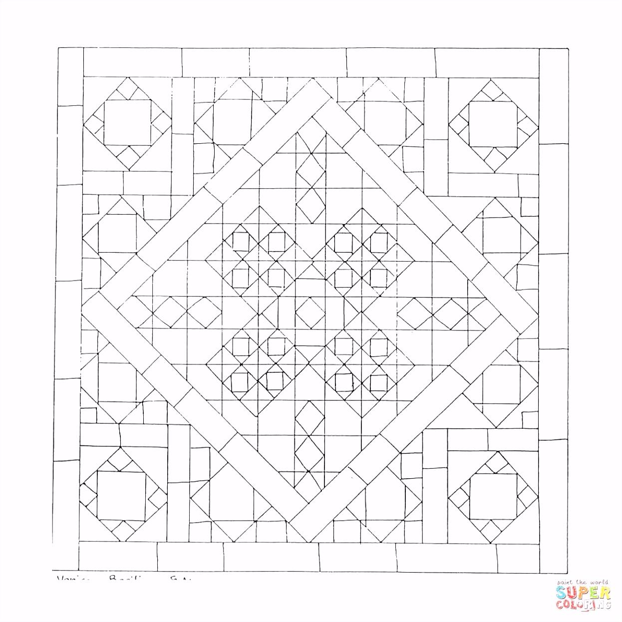 Geometrische Kleurplaten Beste Van Geometrische Mandala Kleurplaat
