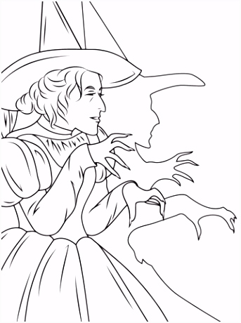 Kleurplaten W.i.t.c.h Wizard Of Oz Wicked Witch Coloring Page Colour H6mc76tpa5 Uvjs52oxh6