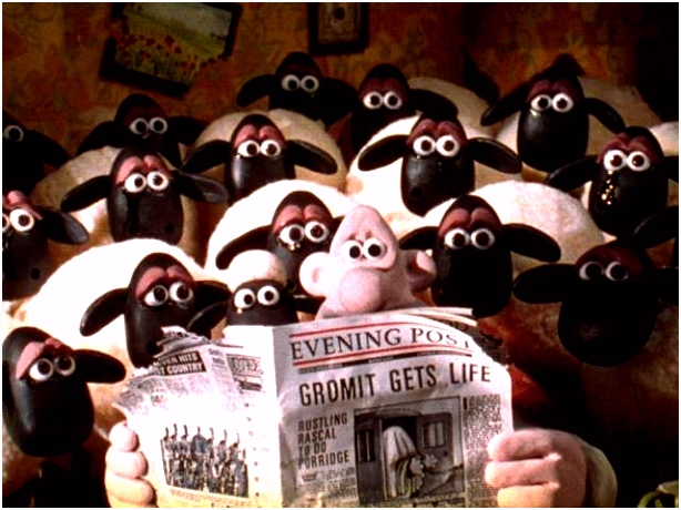 Image result for wallace and gromit a close shave brick wall