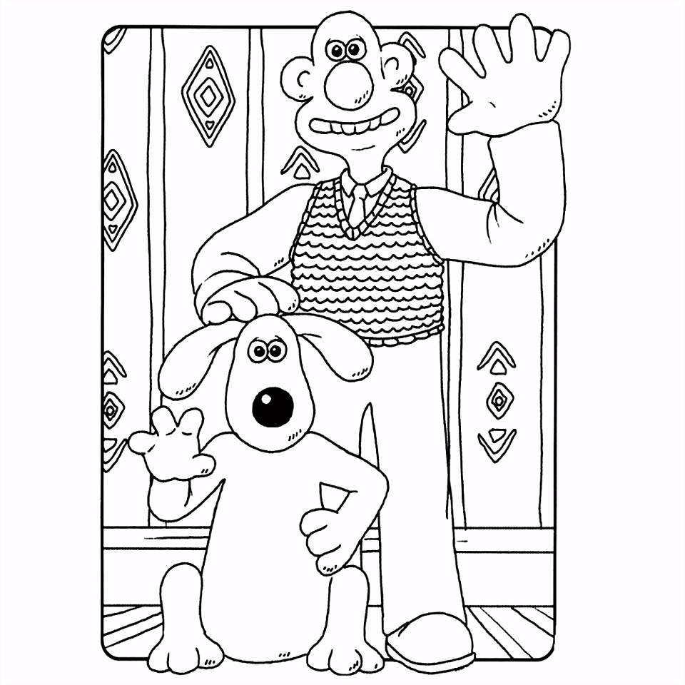 Wallace en Gromit kleurplaten Kleurplatenpagina boordevol