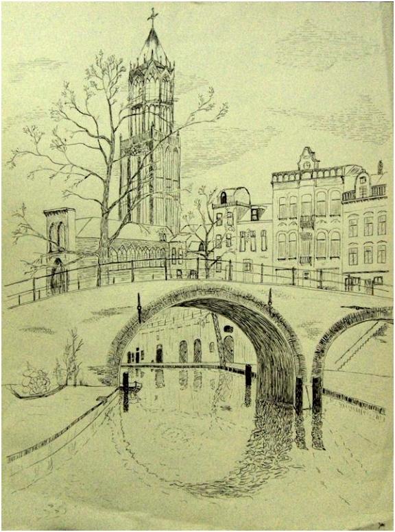 Kleurplaten Windmolens De Dom Van Utrecht Inkt John Van Baal Oostindische Inkt Op S9mj95elw4 Ahbnm5abr5