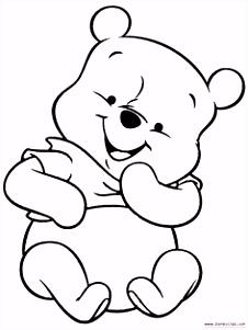Afbeeldingsresultaat voor winnie the pooh baby kleurplaten