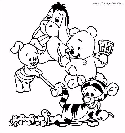 Winnie The Pooh Kerst Kleurplaat ARCHIDEV